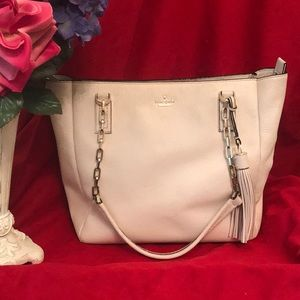 Kate Spade Kensey Classic cream leather bag
